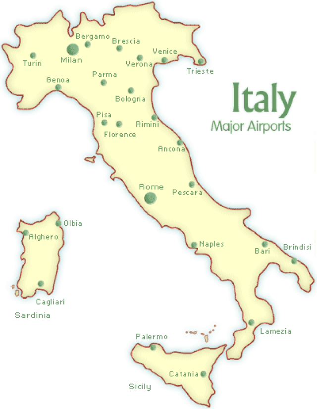 Map Of Italy Bari: Show Me A Map Of Italy At Slyspyder.com