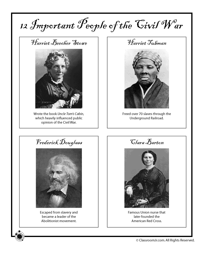 Photo of Civil War Influential African Americans and Women | Woo! Jr. Kids Activities