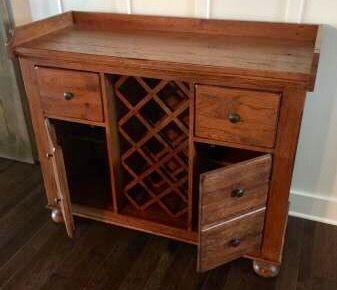Broyhill Attic Heirlooms Wine Cabinet In Oak Stain Broyhill Oak Stain Solid Oak