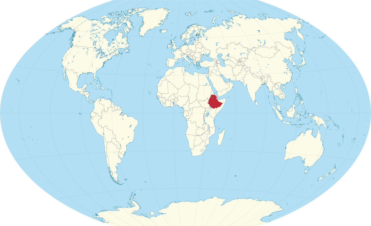 Above is a a picture of the a world map the red shows ethiopia is above is a a picture of the a world map the red shows ethiopia is located gumiabroncs Choice Image