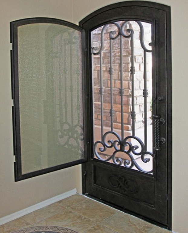 Puerta puerta pinterest doors screens and front doors for Entry door with built in screen