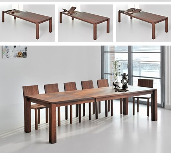 Expandable Dining Tables Serve A Big Dose Of Style To Any Dining Impressive Dining Room Tables Expandable Review