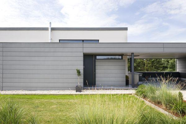 Olivier Dullier - maison contemporaine single floor facade - facade de maison contemporaine