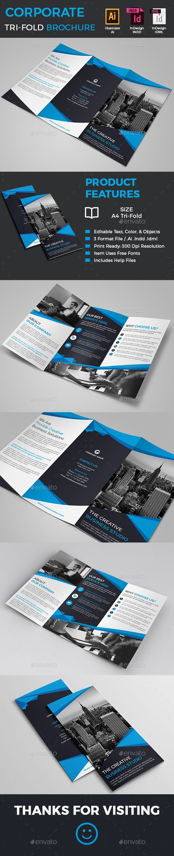 Corporate Tri Fold Brochure Template Indd Vector Ai Download Here