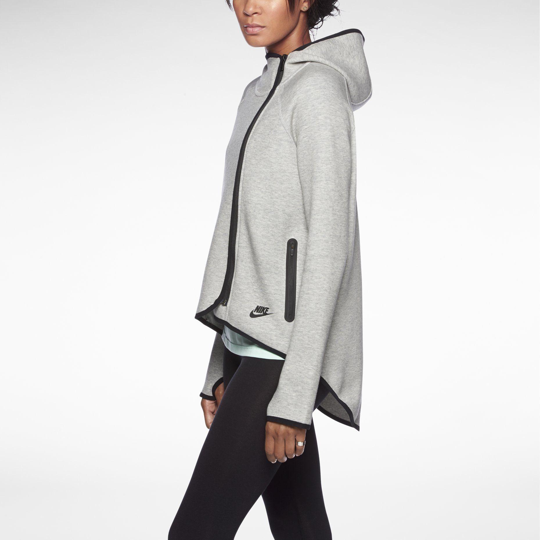 nike tech fleece cape women 39 s hoodie so yummy fun. Black Bedroom Furniture Sets. Home Design Ideas