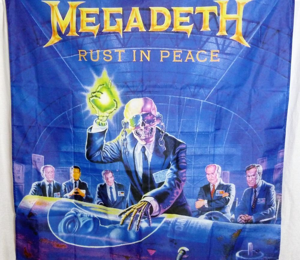 Megadeth Rust In Peace Huge 4x4 Banner Poster Tapestry Cd Album