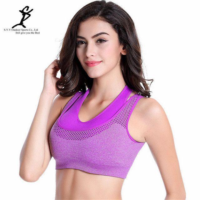 Sexy push up sports bra