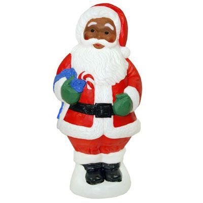 christmas decorations christmas blow molded 31 african american santa claus decoration american sale - African American Outdoor Christmas Decorations