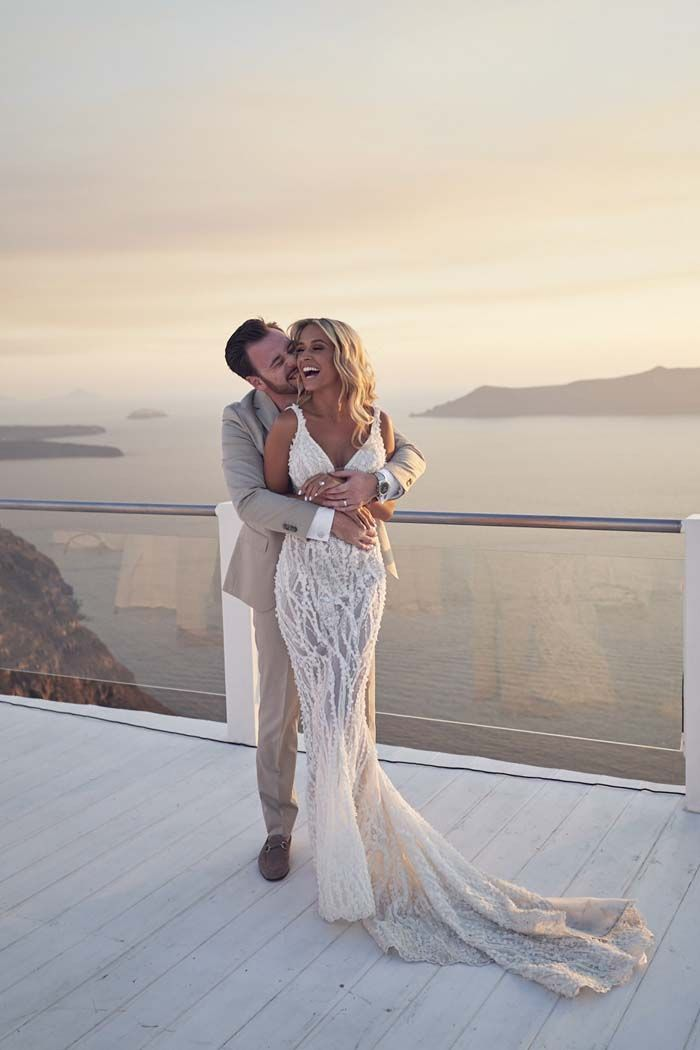 Photo of Georgia & Josh's Santorini Wedding Celebration – Magical Real Wedding
