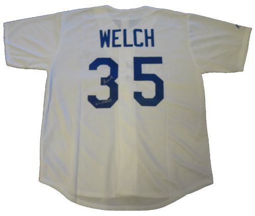 091766676 Bob Welch Autographed Los Angeles Dodgers Jersey W PROOF
