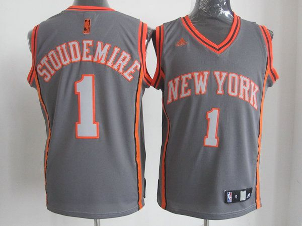 Adidas NBA New York Knicks 1 Amar e Stoudemire Swingman Gray Jersey ... 00e012008230b