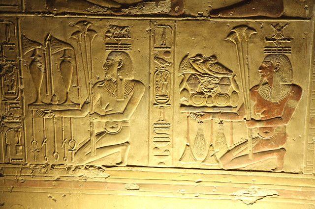 Templo de Sethi I en Abidos , segunda sala hipóstila , par… | Flickr