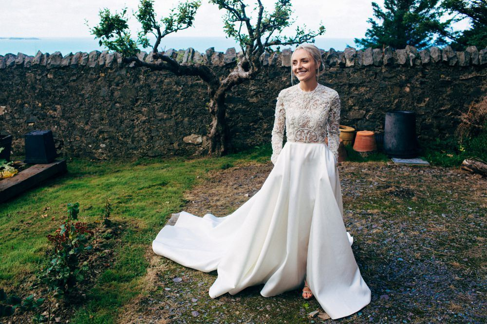 Stylish Welsh Wedding With Emma Beaumont Gown Grey Bridesmaids