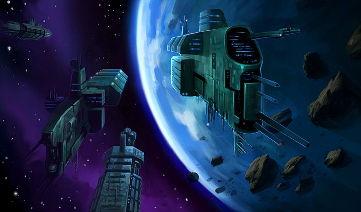 Starcraft • Terrans Leaving Planet