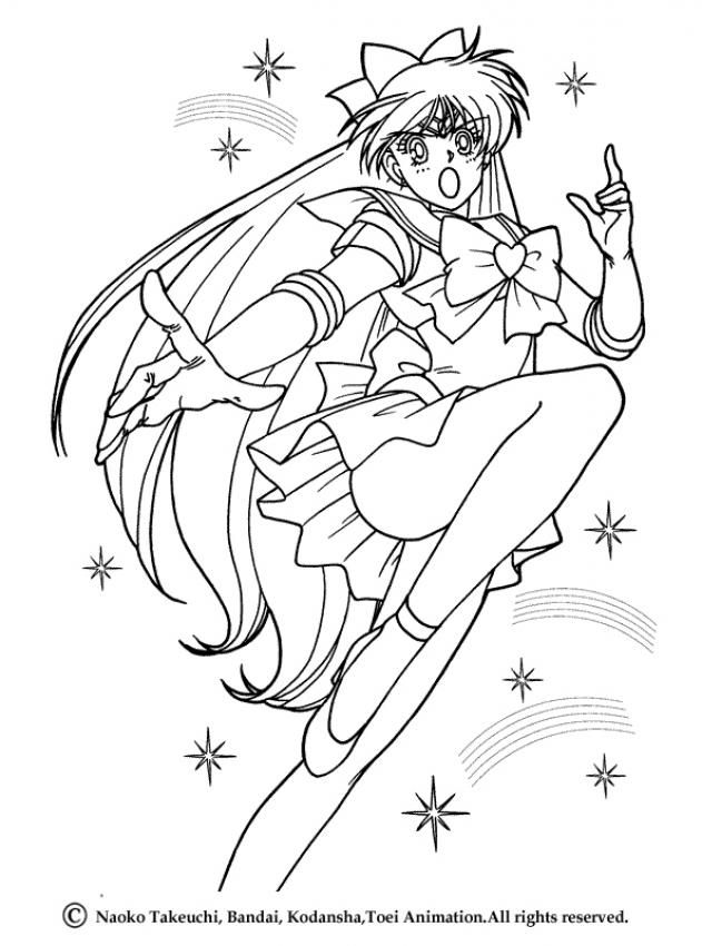 Sailor Venus Coloring Page | Sailor Moon Ausmalbilder | Pinterest ...