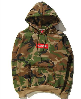 Neu Herren Camouflage Supreme Hip Hop Hoodie Sweater hooded