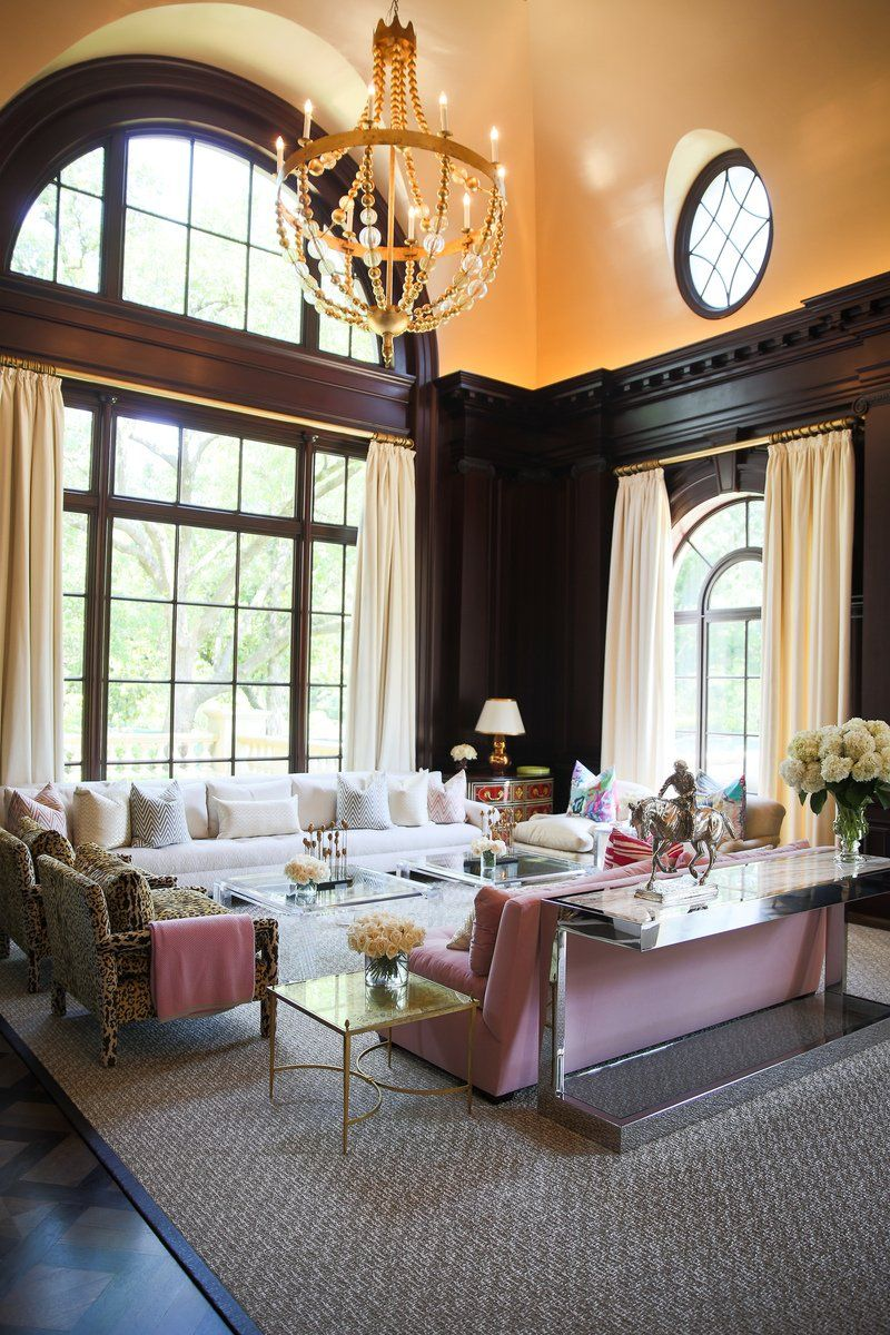 Transitional Living Room in Dallas, TX by Kirsten Kelli ...