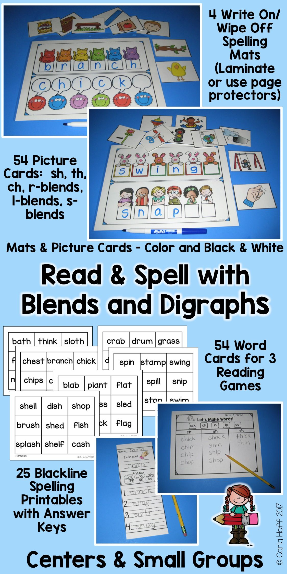 Consonant Blends And Digraphs Read And Spell With Short Vowels Digraph Word Work Fun Consonant Blends [ 2250 x 1125 Pixel ]