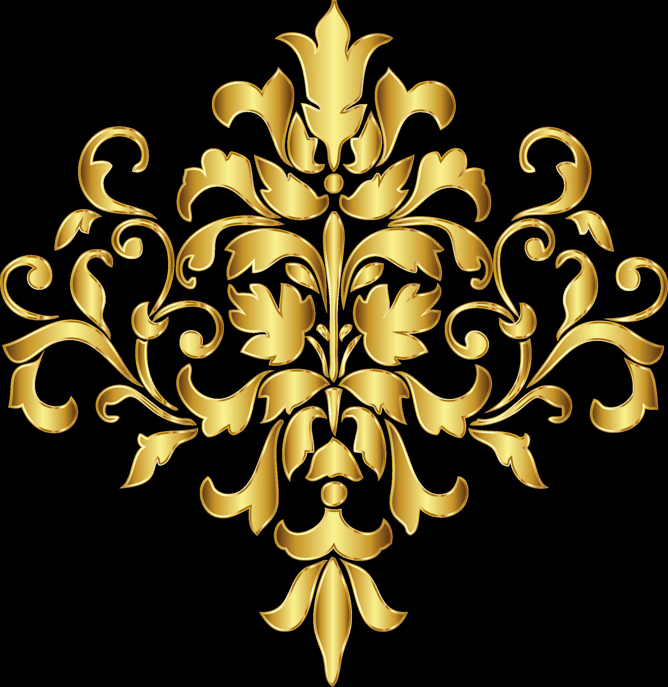 Картинки узор золотом