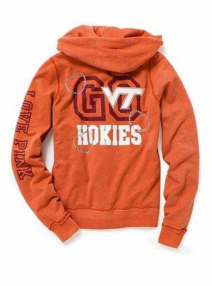 9e7536e8e ShopStyle: Victoria's Secret Pink® Virginia Tech zip hoodie ...
