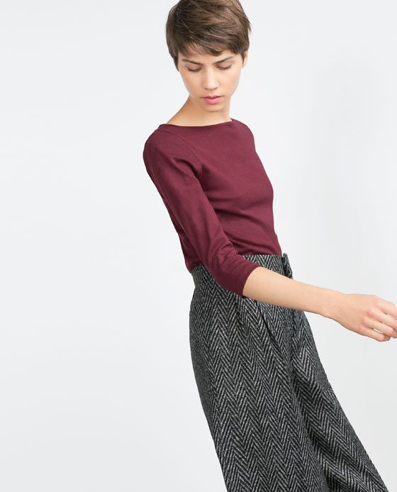 Image 3 of ORGANIC COTTON TOP from Zara