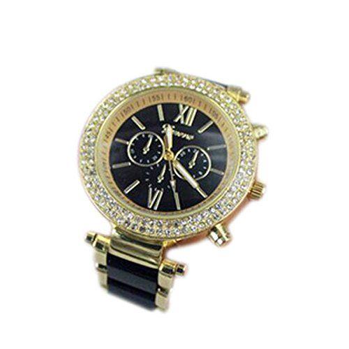 OrrOrr Designer Strass Damenuhr Uhr Chronograph Optik Gold Blogger Bloggeruhr schwarz - http://uhr.haus/orrorr-8/orrorr-designer-strass-damenuhr-uhr-chronograph