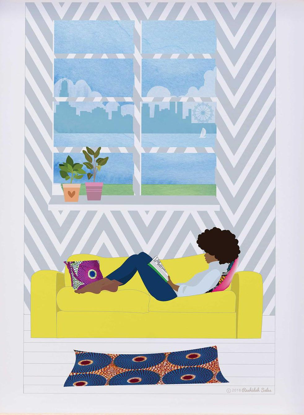 Artwork for the bookworm or homebody. Enjoy a peaceful reflection of your favorite activity right on the wall of your living room, bedroom, or home office.