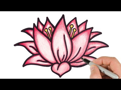 1 How To Draw Lotus Flower Step By Step Easy Drawing For Kids And Beginners Youtube Lotus Flower Drawing Lotus Drawing Flower Drawing