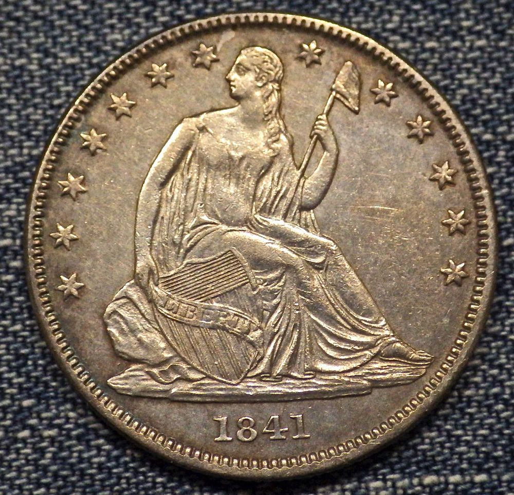 1841 O Seated Liberty Half Dollar Au Coin Us Half