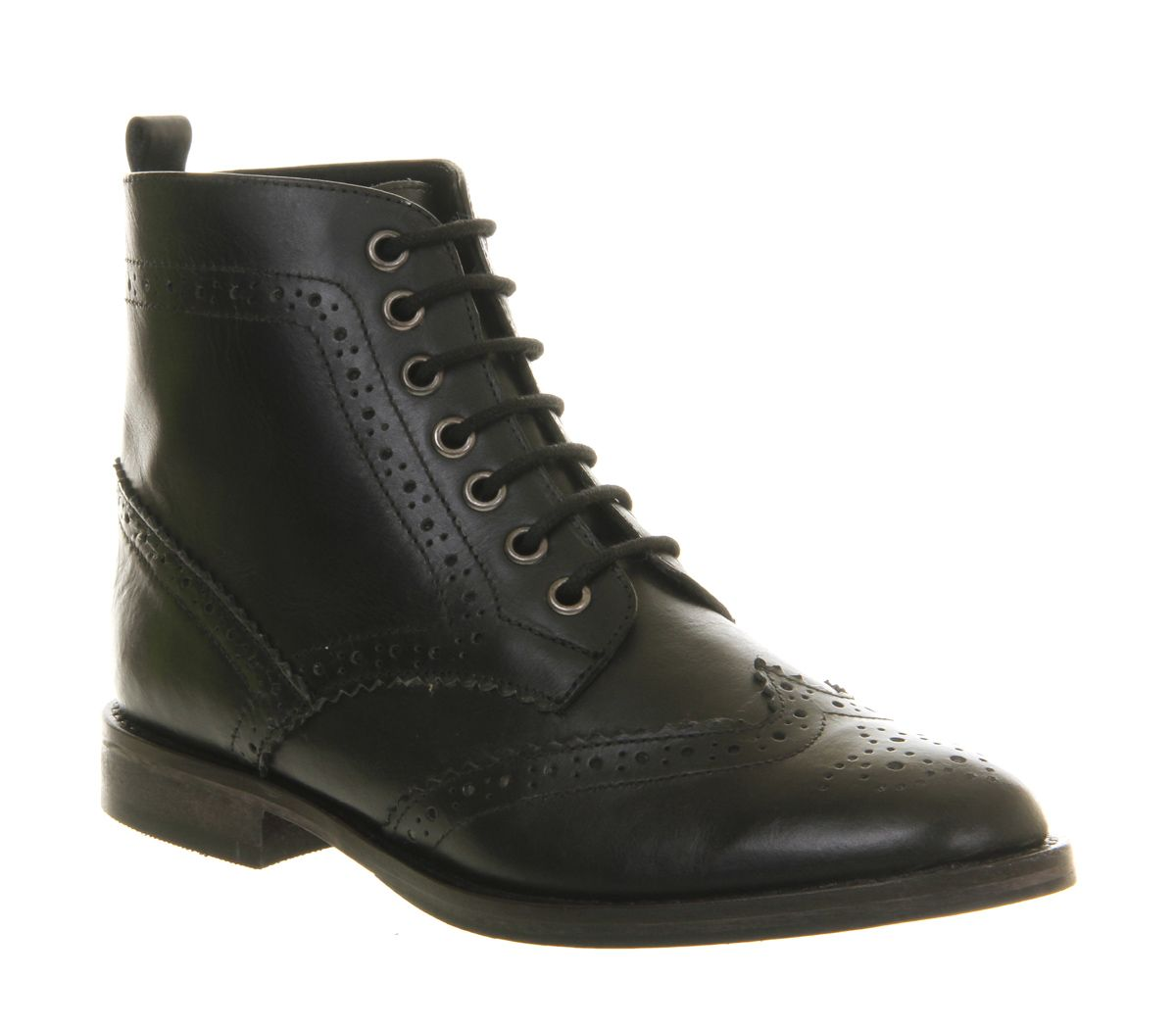 Office Breakin Brogue Black Leather - Brogues