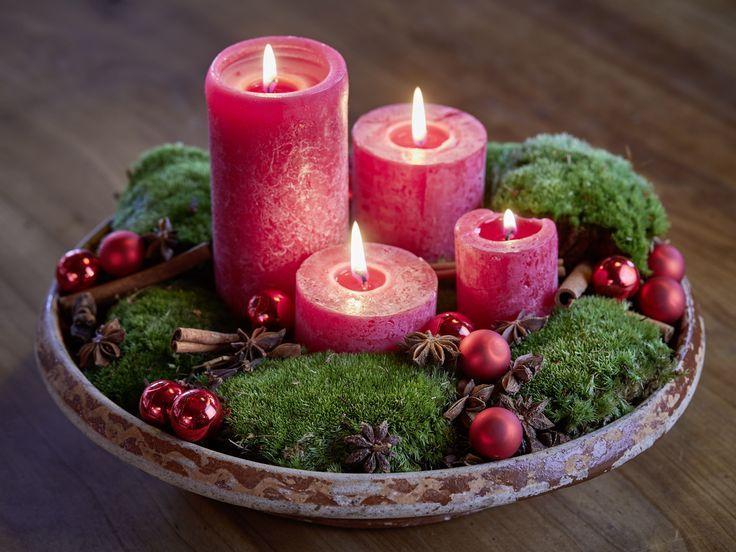 Selbstgemachter Adventskranz In Schale Mit Moos Zimtstangen Sternanis Und Baum Deko Weihnachten Adventskranz Adventskranz Deko Weihnachten Advent