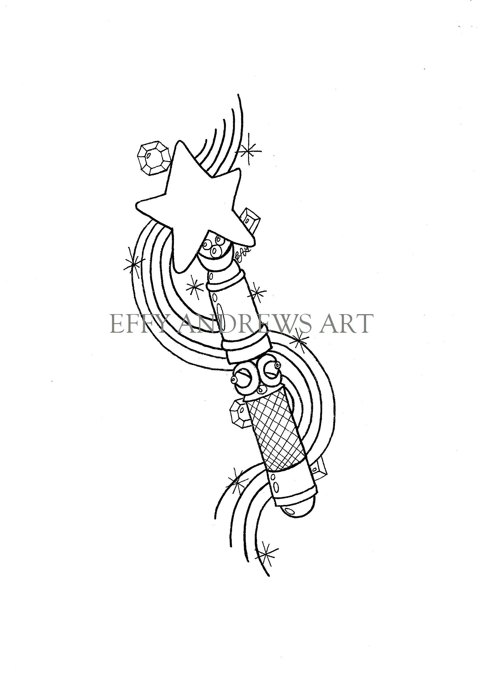 Magic Wand Coloring Page Coloring Pages Cute Coloring Pages Wands