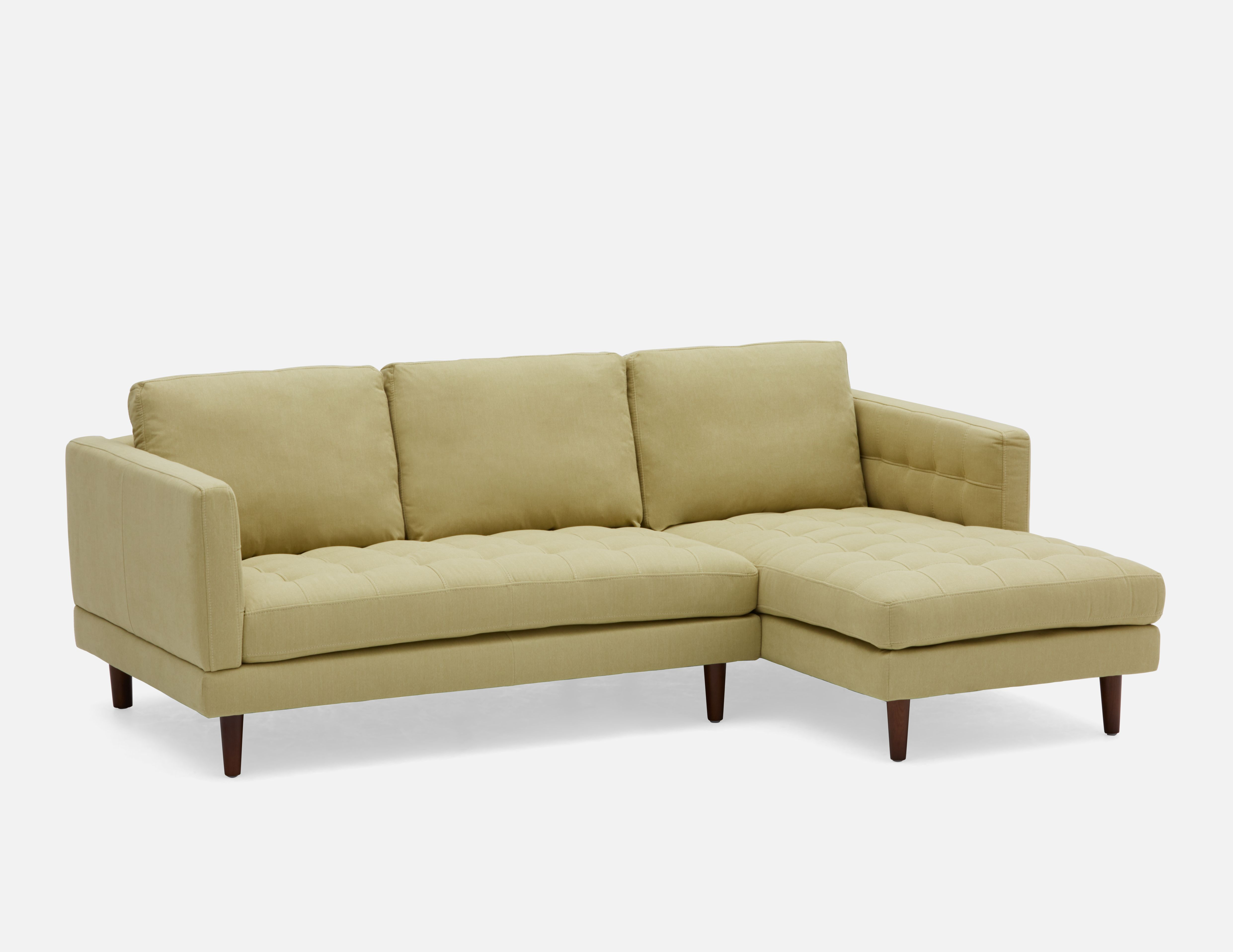 Light Green Sectional Sofa Right Structube Simpson Grey