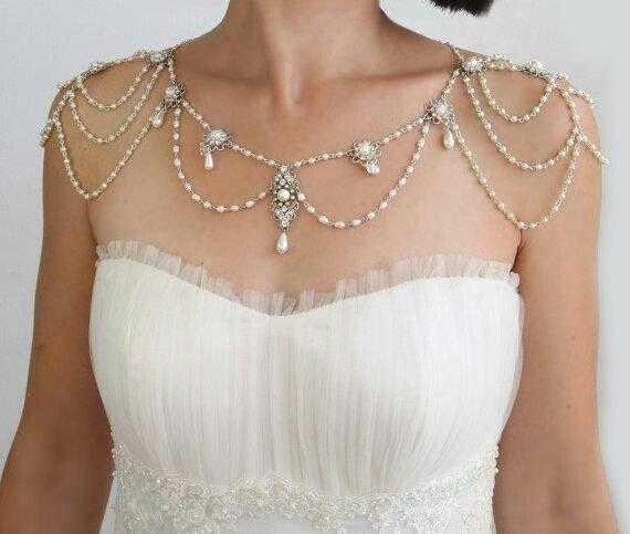 diy shoulder necklace Google Search wedding Pinterest
