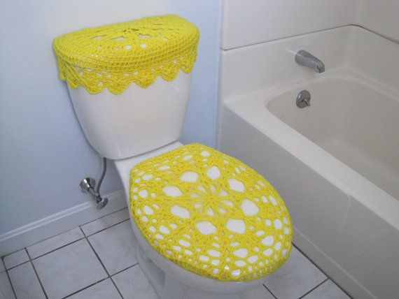 Crochet Covers For Toilet Seat And Tank Lid. Bathroom SetsBathroom ...