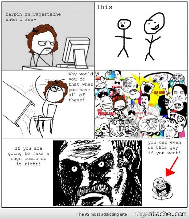 16c4c45438522a8b77544783d1b4d25c how to make a ragestache comic rage pinterest comic, rage