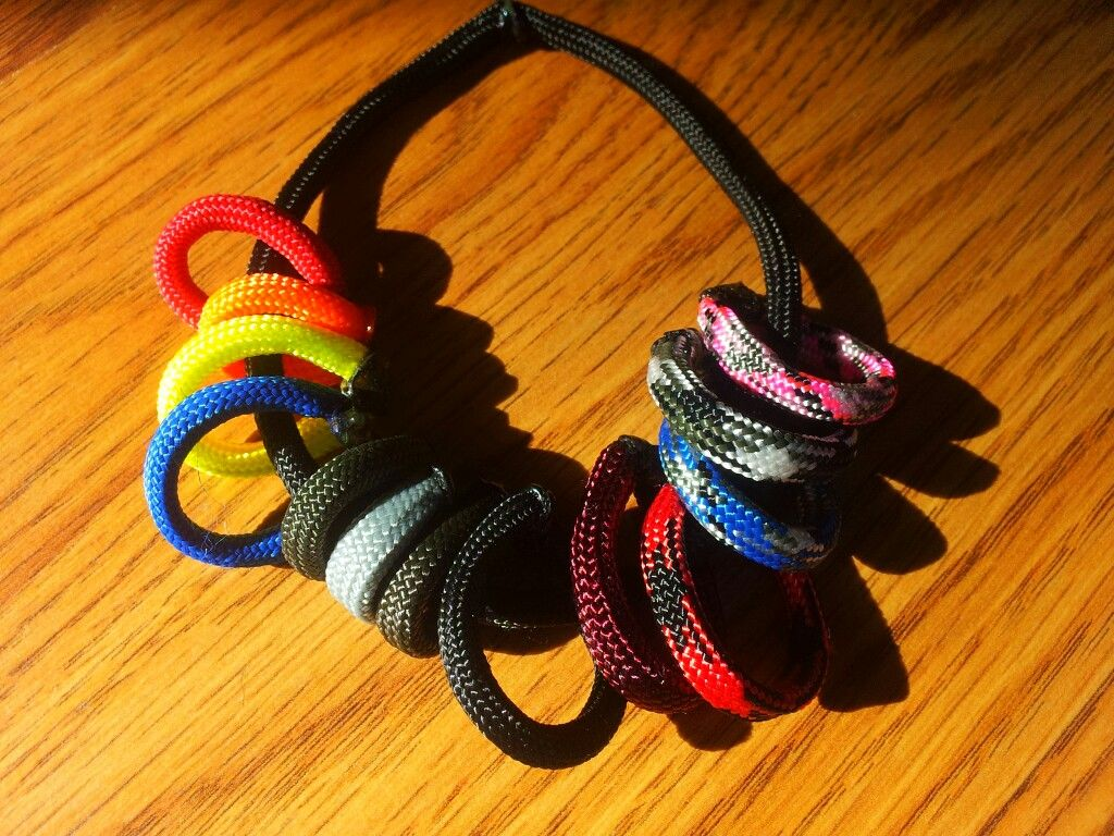 Scrap Paracord idea to keep color sample on you for