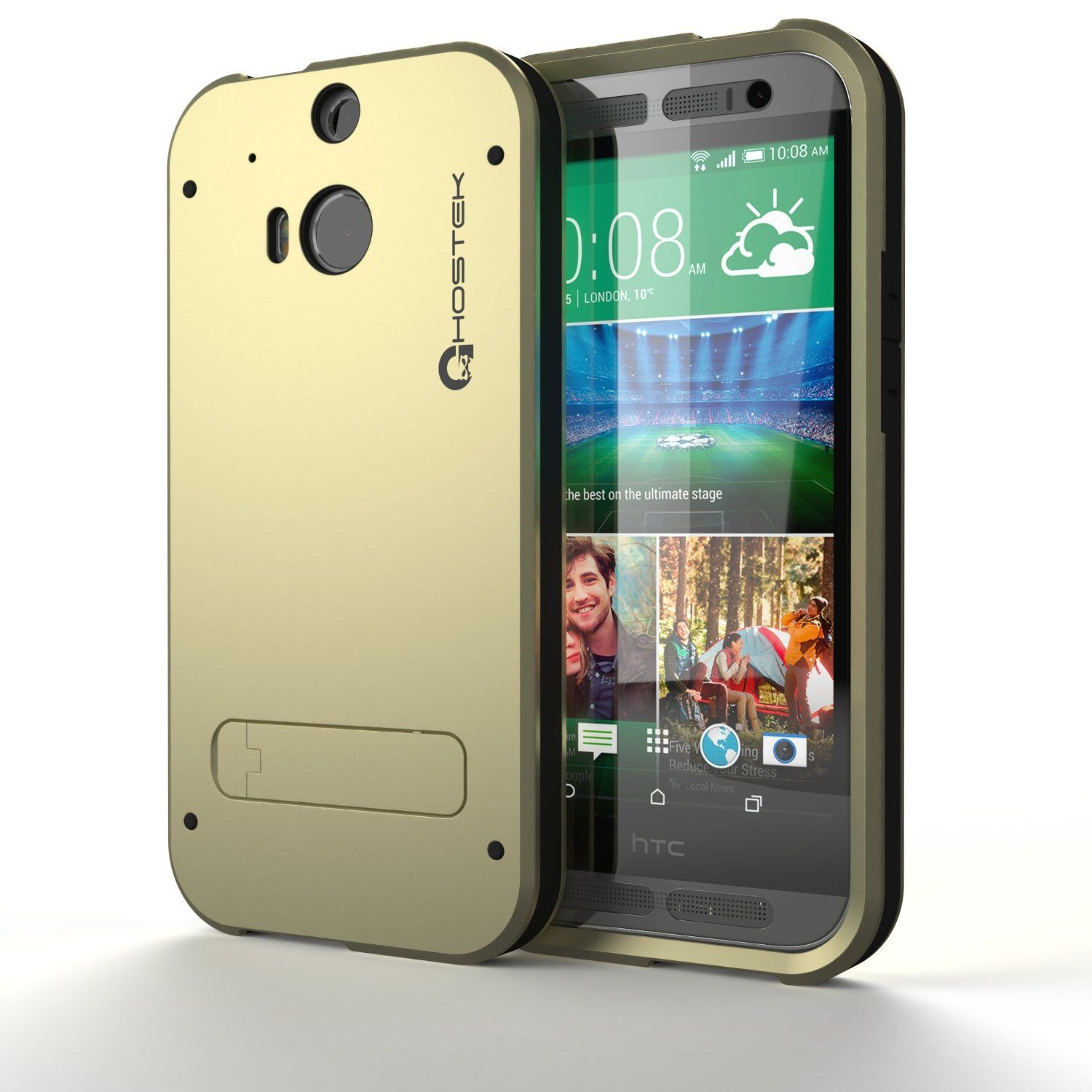 low priced 7ab5d 5fcec Amazon.com: HTC One M8 Case, Ghostek Bullet Series for HTC One M8 ...