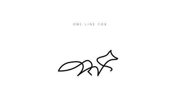 One Line Drawing Fox One Line Animals Line Art Tattoos Animal Tattoos