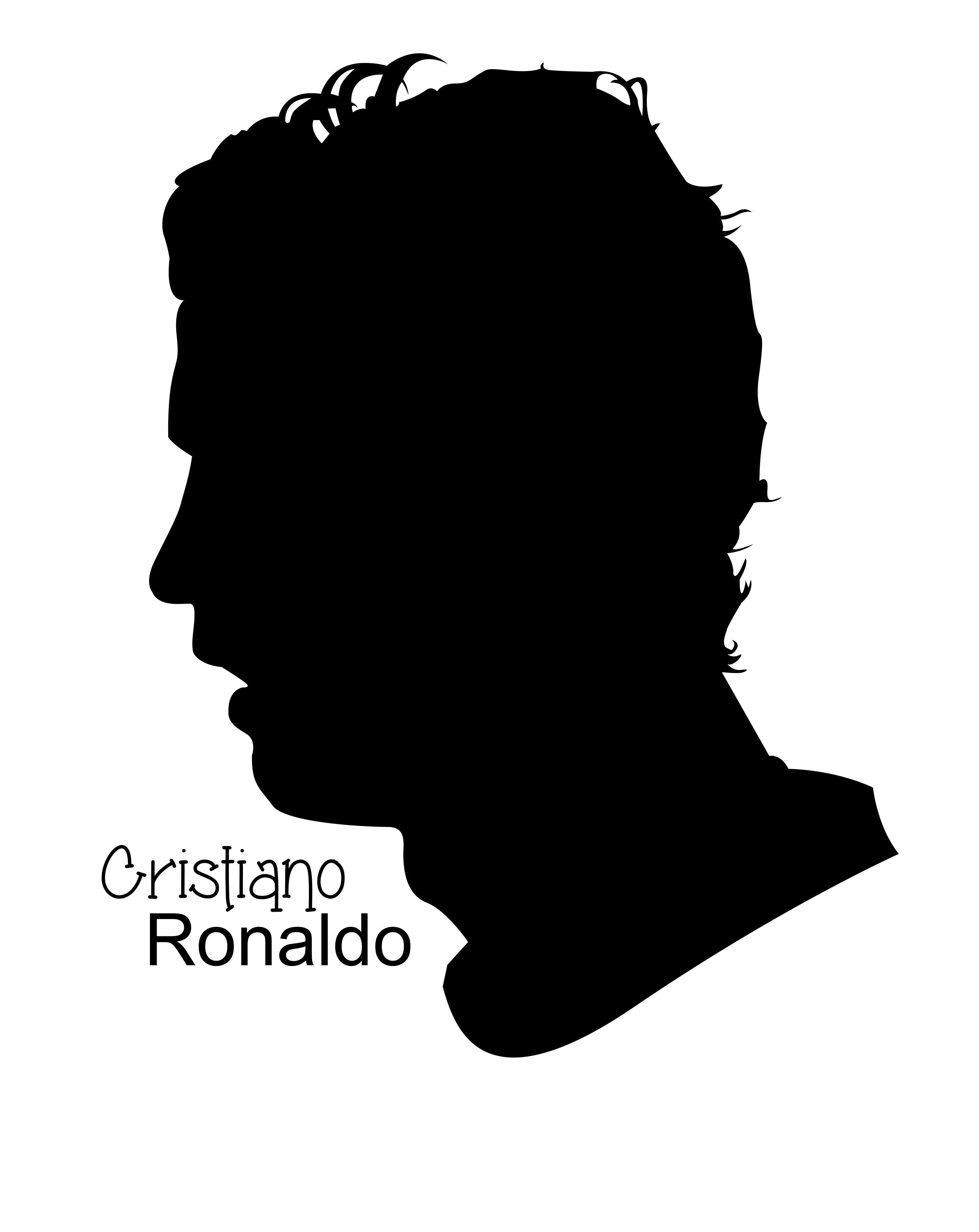 Cristiano Ronaldo In Silhouette Silhouette Vector Art Graphicdesign Illustration Coreldraw People Ronaldo Cristiano Ronaldo Cristiano Ronaldo Cr7