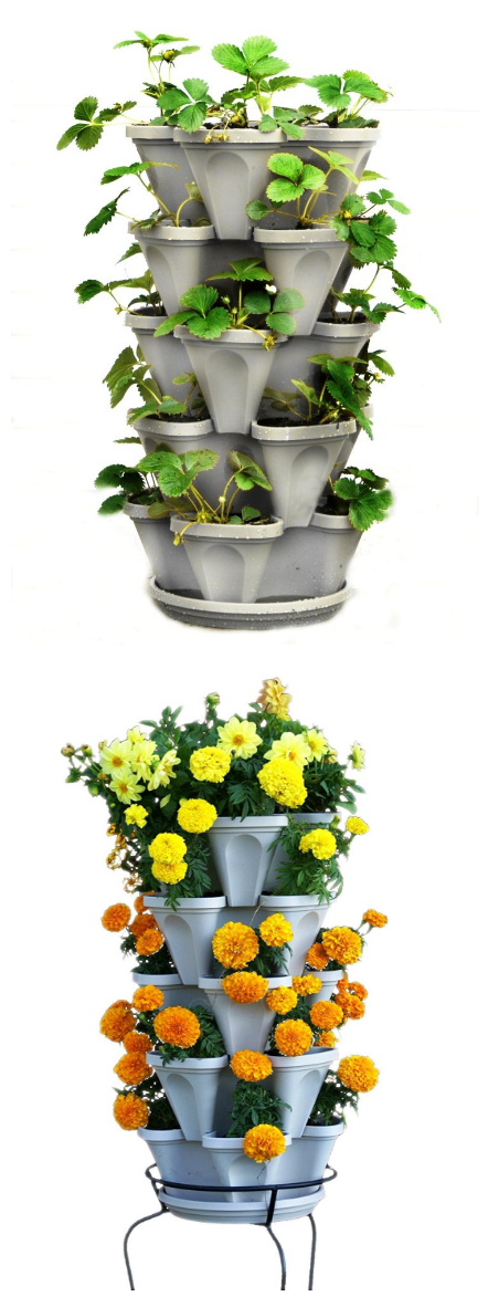 5 Tier Stackable Strawberry Herb Flower And Vegetable 400 x 300