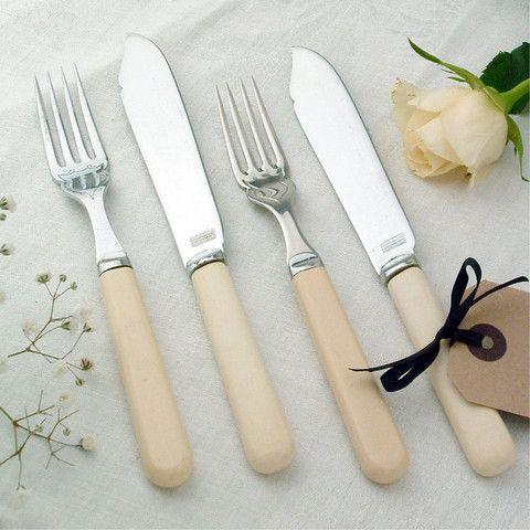 Set Of Vintage Fish Knives And Forks Vintage Cutlery