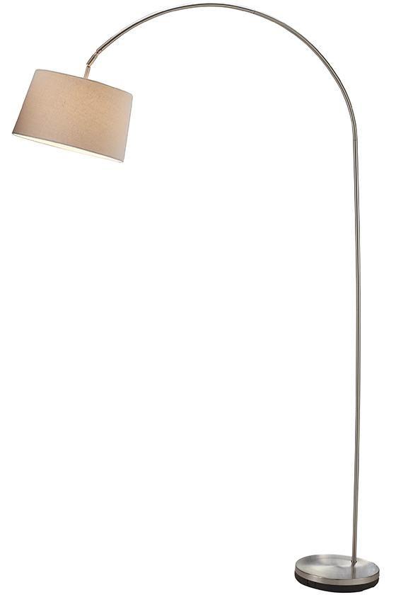 Phillips Arch Floor Lamp | Satin Steel | Home Decorators | $179
