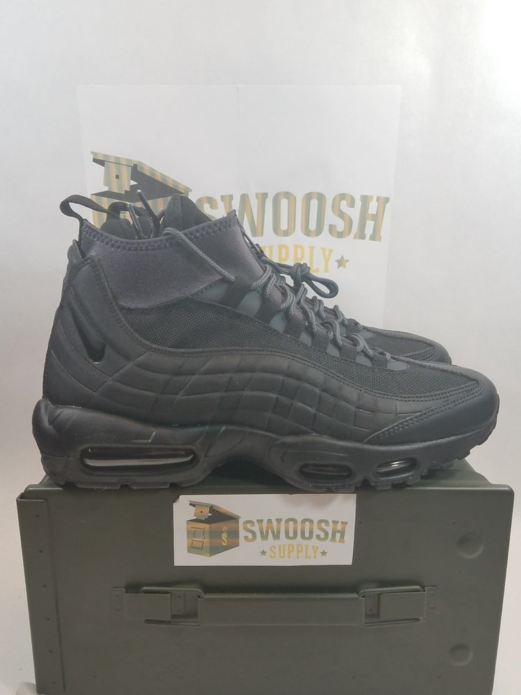 2f5a4f611fa Nike Air Max 95 Sneakerboot Size 10 Triple Black Anthracite OG 806809 001   Nike  AthleticSneakers