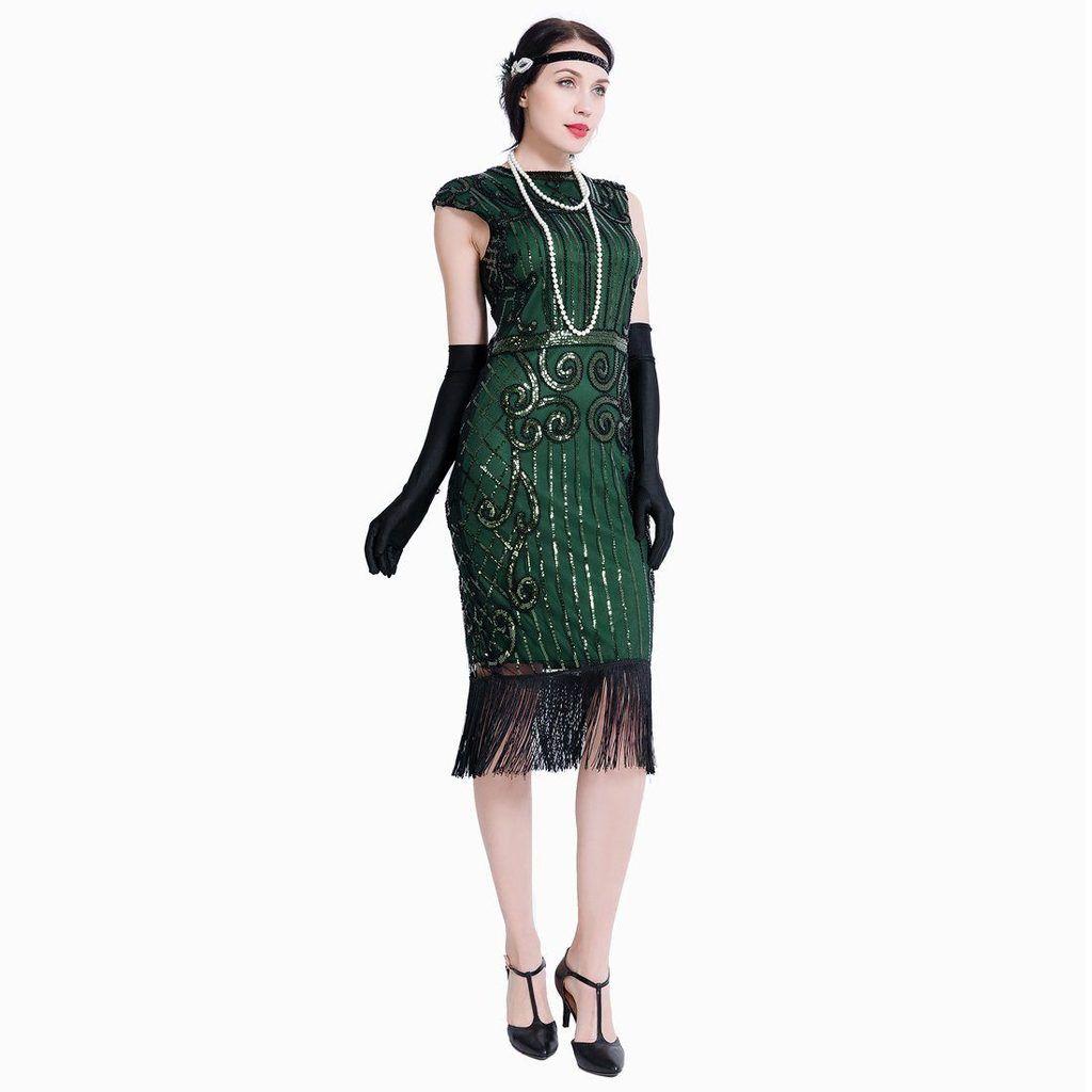 Green Gatsby Dress Downton Abbey Speakeasy Charleston 1920 S Party Jaoswish Roaring 20s Dresses Trendy Party Dresses Gatsby Dress [ 1024 x 1024 Pixel ]