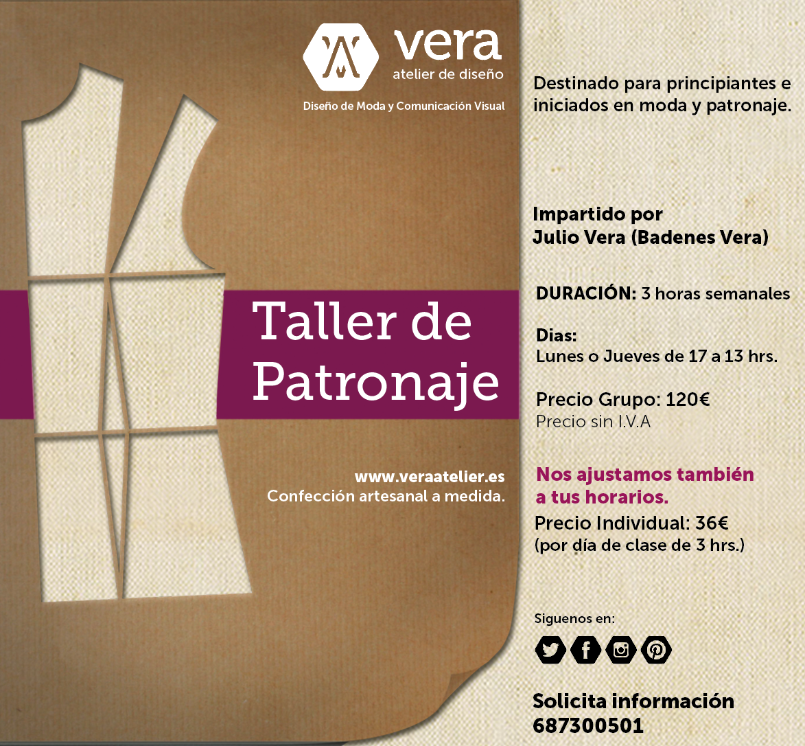 Taller De Patronaje Curso Corte Y Confecci N Valencia Vera  ~ Cursos De Manualidades En Valencia