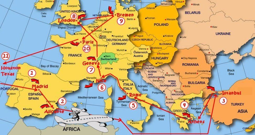 Map of europe from spain to italy google search places to visit map of europe from spain to italy google search gumiabroncs Choice Image