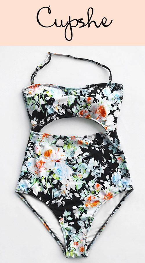 6413ea5e60 Live Life On The Beach With Cupshe Tender Night Print Bikini Set~  Comfortable fabric & removable halter & charming cut-out design. All these  gonna highlight ...