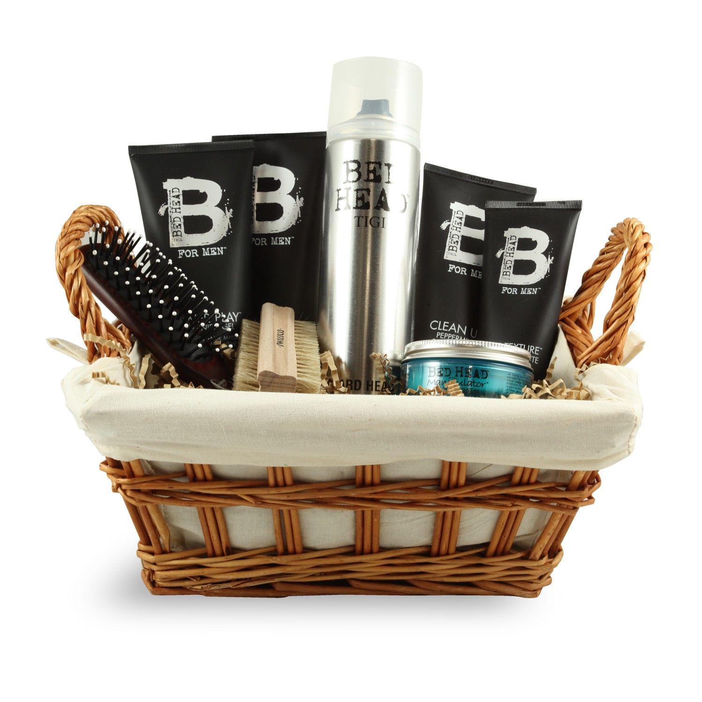 Indulgence gift basket, hair care, brushes, hairspray