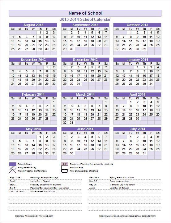Every Year Calendar : My favorite calendar i use it every year because s